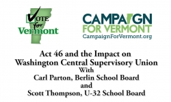 Act 46 It's Impact on Small Schools - Berlin & Calais