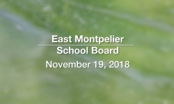 East Montpelier School Board - November 19, 2018