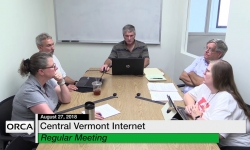Central Vermont Internet -  Finance Committee August 27, 2018