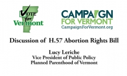 Vote for Vermont: Discussion of H.57 Abortion Rights Bill