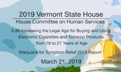 Vermont State House - S.86, Marijuana for Symptom Relief 2018 3/21/19