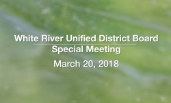 White River Unified District Board - Special Meeting 3/20/18