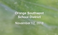 Orange Southwest Unified Union District - November 12, 2018