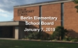 Berlin Elementary School Board - January 7, 2019
