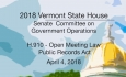 Vermont State House: H.910 - Open Meeting Law Public Records Act 4/4/18