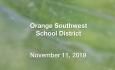 Orange Southwest School District - November 11, 2019