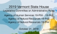Vermont State House - Legislative Committee on Administrative Rules 10/31/19