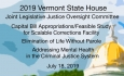 Vermont State House - Joint Legislative Justice Oversight Committee 7/18/19