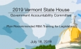 Vermont State House - Plan Recommended RBA Training for Legislators 7/18/19