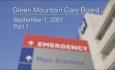 Green Mountain Care Board - September 1, 2021 Part 1 [GMCB]