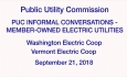 Public Utility Commission - Informal Conversations - Member-Owned Electric Utilities