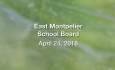 East Montpelier School Board - April 24, 2018