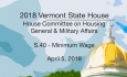Vermont State House: S.40 - Minimum Wage 4/5/18