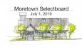 Moretown Selectboard - July 1, 2019