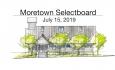 Moretown Selectboard - July 15, 2019