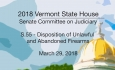 Vermont State House: S.55 - Disposition of Unlawful & Abandoned Firearms  3/29/18