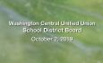 Washington Central Unified Union School District - October 2, 2019