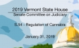 Vermont State House - S.54 - Regulation of Cannabis 1/31/19