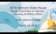 Vermont State House: S.40 - Minimum Wage 3/28/18