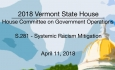 Vermont State House: S.281 - Systemic Racism Mitigation 4/11/18