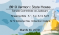 Vermont State House - Firearms Bills and S.72 Extreme Risk Protection Orders 3/13/19