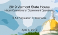 Vermont State House - S.54 Regulation of Cannabis 4/3/19