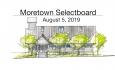 Moretown Selectboard - August 5, 2019