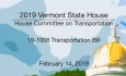 Vermont State House - 19-1006 Transportation Bill 2/14/19