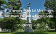 Rochester Special Meeting - Robinson Project & Bingo Area 8/17/18