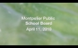 Montpelier School Board - April 11, 2018
