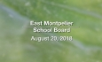 East Montpelier School Board - August 20, 2018