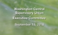 Washington Central Supervisory Union - Executive Committee Meeting 9/19/18