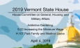 Vermont State House - Addictive Gambling, S.23 Minimum Wage, H.107 Paid Family Leave  4/4/19