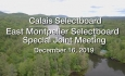 Calais Selectboard - Special Joint Meeting with East Montpelier Selectboard 12/16/19