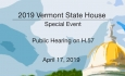 Vermont State House Special Event - Public Hearing on H.57 4/17/19