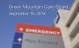 Green Mountain Care Board - September 19, 2018