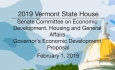 Vermont State House - Governor's Economic Development Proposal 2/1/19