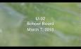 U-32 School Board: March 7, 2018 [U32SB]