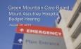 Green Mountain Care Board - Mount Ascutney Hospital Budget Hearing 8/29/18