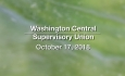 Washington Central Supervisory Union - Executive Committee Meeting 10/17/18
