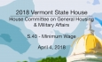 Vermont State House: S.40 - Minimum Wage 4/4/18