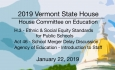 Vermont State House - H.3, Act 46, Agency of Education Staff Introduction 1/22/19