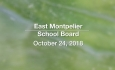 East Montpelier School Board - October 24, 2018