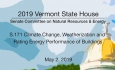 Vermont State House - S.171 Climate Change, Weatherization & Energy of Buildings 5/2/19