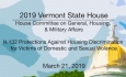 Vermont State House - H.132 Protections Against Housing Discrimination 3/21/19