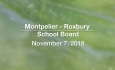 Montpelier - Roxbury School Board - October 17, 2018