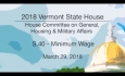 Vermont State House: S.40 - Minimum Wage 3/29/18