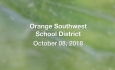 Orange Southwest Unified Union District - October 8, 2018