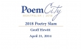 Poem City - Poetry Slam 2018