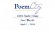 Poem City - Poetry Slam 2018